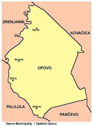opovo mapa Opština Opovo   Wikipedia opovo mapa