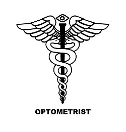 optometrist symbol it is a caduceus with an eye at the top