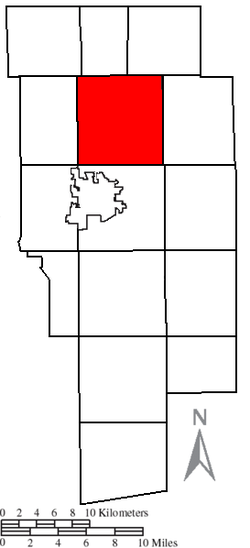 Location of Orange Township in Ashland County.