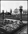Ornamental plantings near the Agriculture Building at the Alaska-Yukon-Pacific Exposition, Seattle, 1909 (MOHAI 8873).jpg