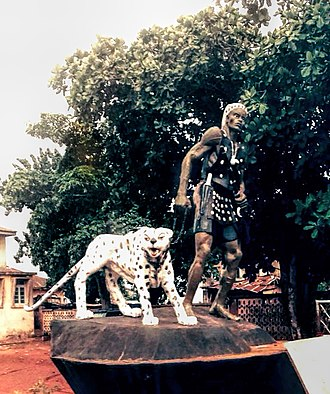 Ilaro - Picture of the statue of Orona of Ilaro, a great warrior of ancient times by Kayode Afolabi