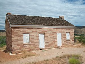 Silver Reef, Utah - The home of Orson B. Adams, where John Kemple stayed in 1866