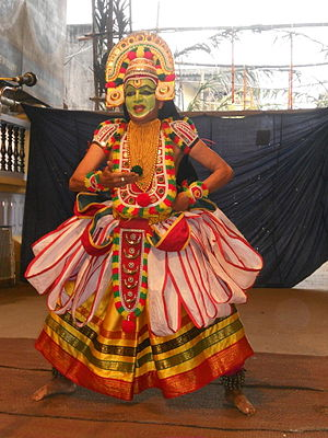 Ottan Thullal - An Ottamthullal performance during a temple festival.