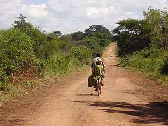Uganda - The road between Otuboi and Bata near the Teso/Lango border