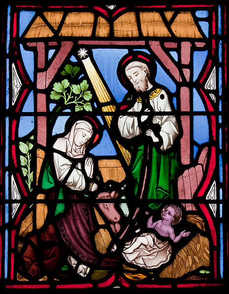 File:Our Lady's Island Church of the Assumption West Aisle Window Nativity 2010 09 26.jpg