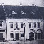 Overview of Ceplichal café, photo of eighties of 19th century (cropped from big photo) in Třebíč.jpg