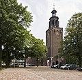 Overzicht van de noordwest gevel van de kerk, genomen vanaf de parkeerplaats - Helmond - 20423099 - RCE.jpg