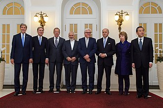 Joint Comprehensive Plan of Action - Image: P5+1 Ministers With Iranian Foreign Minister Zarif in Vienna