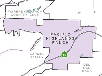 Pacific Highlands Ranch, San Diego - Image: PH Rmap