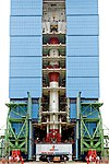 PSLV C43 - HySIS launch campaign. Inside Mobile Service Tower.jpg