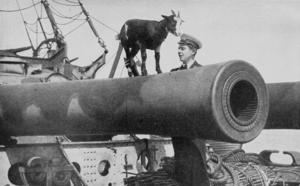 BL 12 inch Mk VIII naval gun - Muzzle of gun on HMS ''Canopus'', 1916