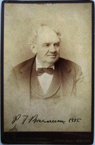 There's a sucker born every minute - Photo of P. T. Barnum by Charles Eisenmann