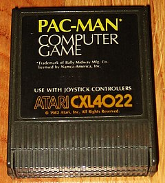 Pac-man computer game for Atari 8-bit computers 1982.jpg