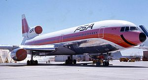 Lockheed L-1011 TriStar - An L-1011-1 of Pacific Southwest Airlines at Lockheed's Palmdale plant