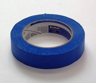 Masking tape - Painter's tape, a type of masking tape usually used for wall painting.