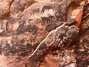 Palatki Heritage Site - Image: Palatki cave pictographs 1