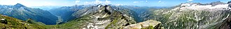 Ankogel Group - Image: Panorama from Ankogel
