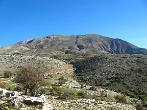Patras - A view of Panachaiko mountain.