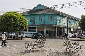 Papar, Malaysia - Colonial-era shoplots in Papar town.
