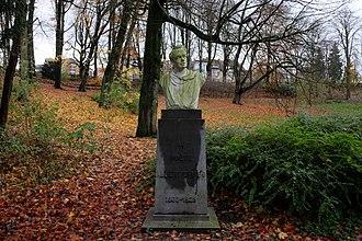 Albert Giraud - Dedicated sculpture in Josaphat Park