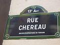 Paris 13e - rue Chéreau - plaque.jpg