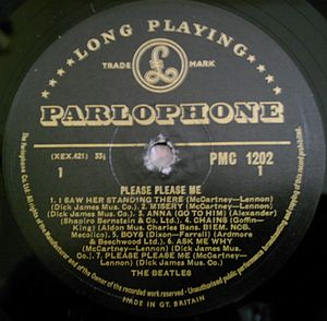 Parlophone - Image: Parlophone LP PMC 1202