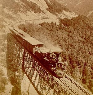 Portland and Ogdensburg Railway - Willey Brook Bridge in the White Mountains