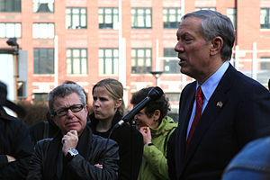 George Pataki - Pataki at the Freedom Tower foundation, speaking to family members of 9/11 victims