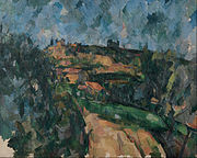 Paul Cézanne - Bend Of The Road At The Top Of The Chemin Des Lauves - Google Art Project.jpg