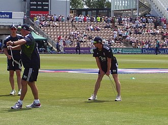 Paul Collingwood - Collingwood warming up before Englands ODI against Australia at the Rose Bowl on 22 June 2010.