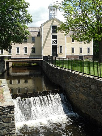 New England - The Slater Mill Historic Site in Pawtucket, Rhode Island