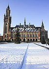 peace palace in winter