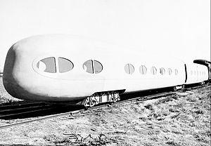 Pendulum car - The articulated prototype in 1937.