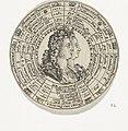 Penning met het portret van Willem III en Maria Stuart en de namen van de prinsen van het huis Oranje-Nassau., RP-P-OB-7259-22.jpg