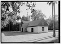 Perspective view looking southwest - Kingsley Plantation, Barn, 11676 Palmetto Avenue, Jacksonville, Duval County, FL HABS FL-478-D-6.tif