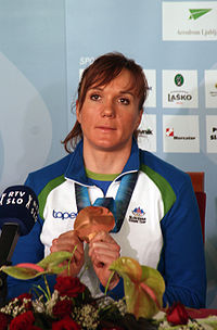 Petra Majdič after 2010 Winter Olympics.jpg