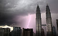 Petronas Towers during lightning storm (3324765471).jpg