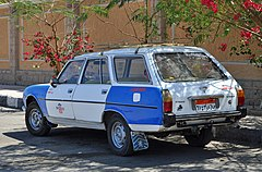 Peugeot 504 break, Luxor, Egypte