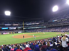 Photograph of the Phillies playing division rival New York Mets at Citizens Bank Park