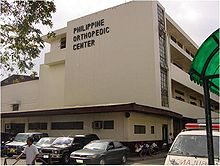 this is the facade of the Philippine Orthopedic Center in Banawe st. Quezon City