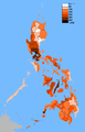 Philippine provinces by population density.png