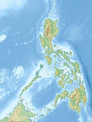 アポ山の位置(フィリピン内)