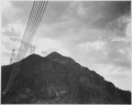 Photograph Looking Toward Mountain With Boulder Dam Transmission Lines on Peak and Close-Up of Wires, 1942 - NARA - 519849.tif