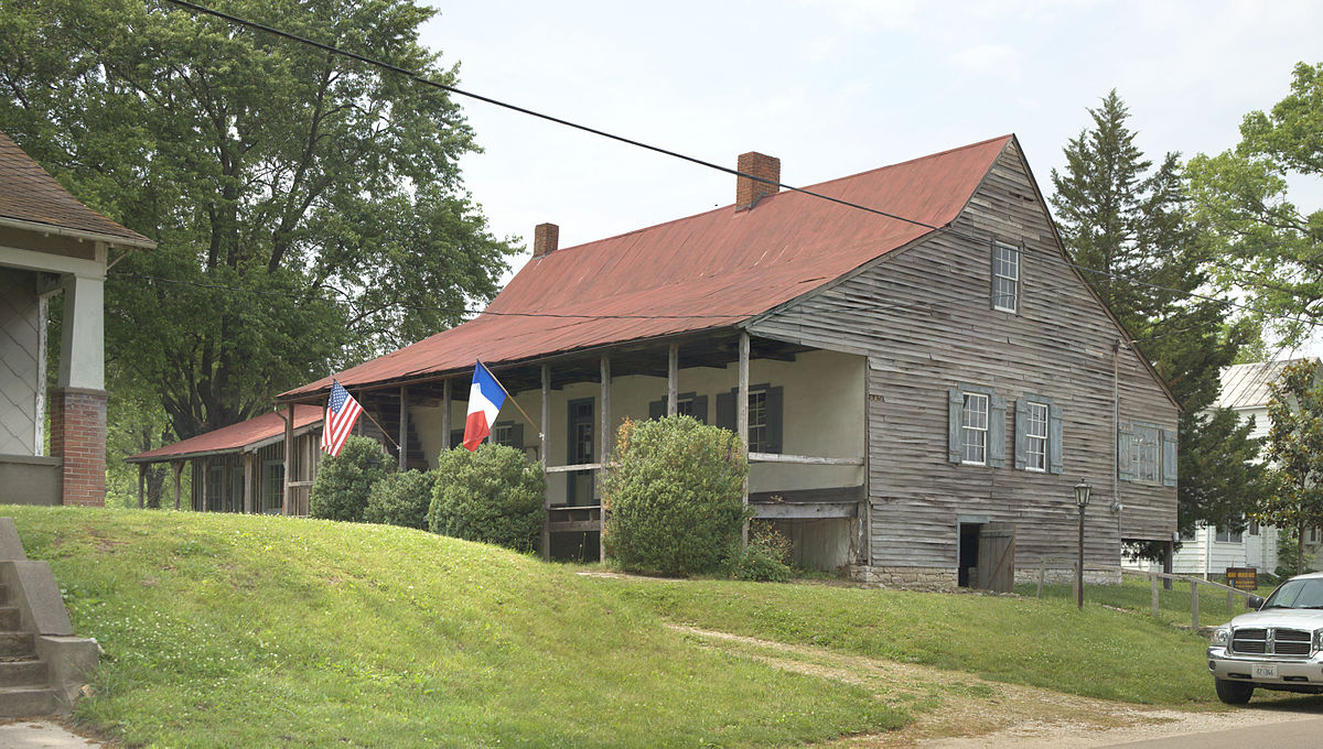 Photograph from the street of the Amoureaux House in Ste Genevieve MO.jpg