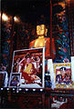 Photos of His Holiness the Karmapa at his shrine, Lord Buddha Statue 1999-0429O-11.jpg