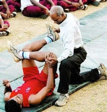 Physiatrist assessing a patient
