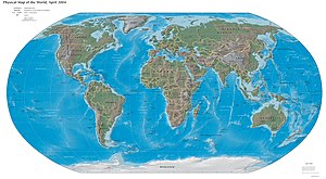 Physical World Map 2004-04-01