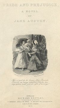 pride and prejudice  lady catherine confronts elizabeth about darcy on the title page of the first illustrated edition this is the other of the first two illustrations of the