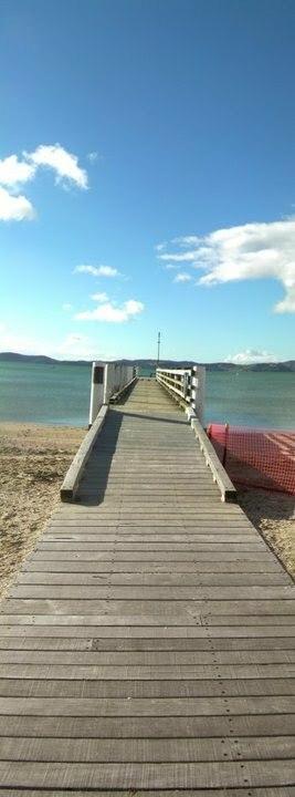 Pier Maraetai Beach Auckland New Zealand