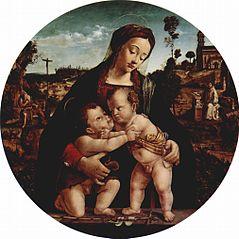 Madonna mit Hl. Johannes dem Täufer, Tondo